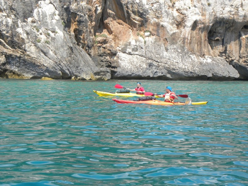Sea excursion by kayak