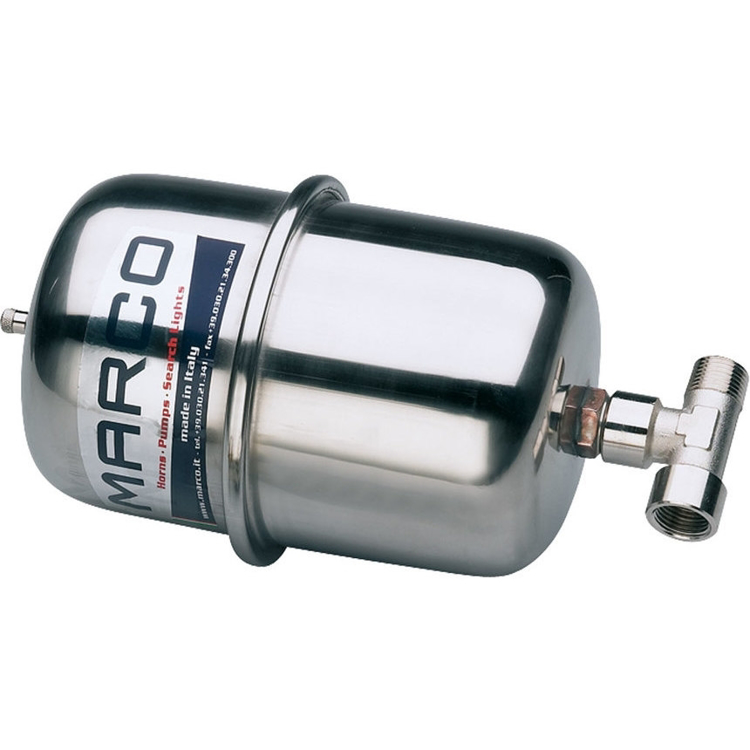 "MARCO ATX2 Stainless steel accumulator tank 2L with 1/2"" T-nipple - 16508110"
